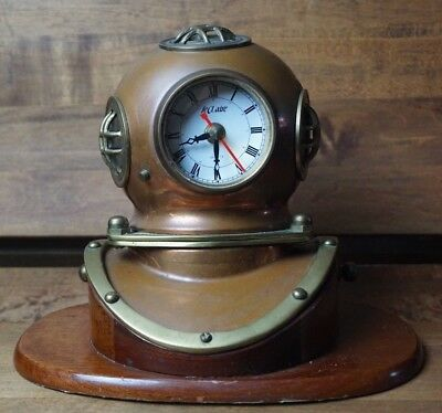 "Quartz Navy Divers Helmet Mark V Brass-Copper Antique Diving Helmet 9""- Replica"