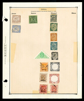 India Protected States of the British Empire Stamp Collection +100 Pieces