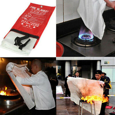 1*1M Fire Blanket Fire Flame Retardant Survival Fire Emergency BlaXBUK