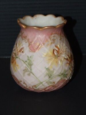 "Beautiful Antique Mt Washington Crown Milano ""signed"" Vase With Scalloped Rim"