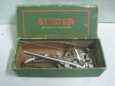 Antique box Singer with accessories for 15K machine