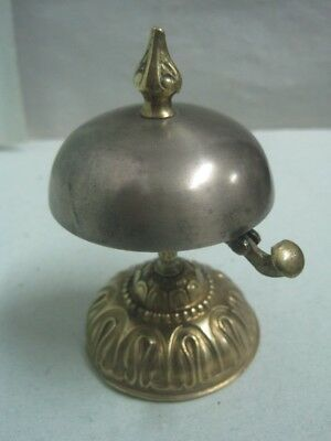 Antique bronze and metal Bell desk / table hotel bell