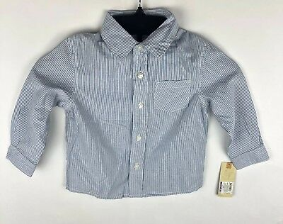 Cherokee Toddler Boy's Long Sleeve Blue with Stripes Shirt 2T NWT