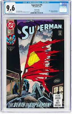 "Superman  #75 (DC, 1993) CGC NM+ 9.6, Third Printing, The ""Death"" of Superman"