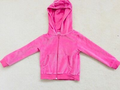 Girls Pink Velour Zipped Hoody Age 3 Years from Next