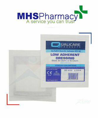 5cm x 5cm LOW ADHERENT WOUND DRESSING, Sterile, Medical Adhesive Pad, CE 1 pcs