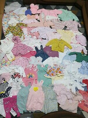 Huge Bundle Of Baby Girl Clothes 0-3-6months #26 NEXT GEORGE F&F MINNIE BABALUNO