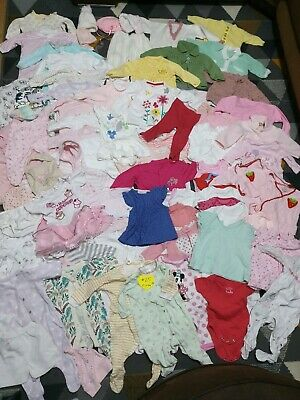 Huge Bundle Of Baby Girl Clothes 0-3-6months #25 MOTHERCARE NEXT GEORGE F&F MINN