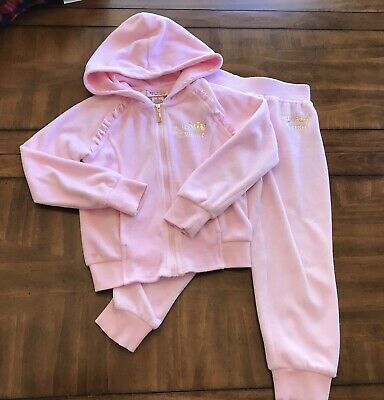 70251f1b6f NWT JUICY COUTURE Girls Velour Set Jacket Pants Pink Tracksuit ...