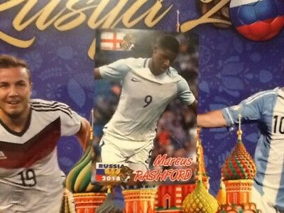 #401 Marcus Rashford England SchoolShop World Cup Russia 2018 sticker Man Utd