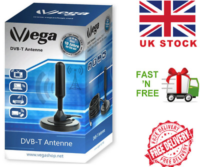 DIGITAL TV AERIAL Campervan Camping Tent Freeview Antenna Magnetic 5m Cable  UK