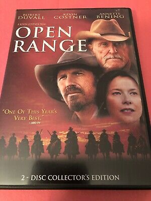 Open Range DVD 2-Disc Set Collector's Ed Wide-screen Kevin Costner Duvall~