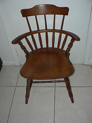 Antique Vintage Nichols & Stone Windsor Chair Mass Arts & Crafts Art Deco Design