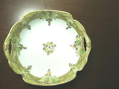 VTG Antique Porcelain Hand Painted Moriage Nippon Candy/Nut Dish