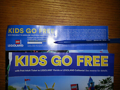 legoland kids go free with paid adult ticket