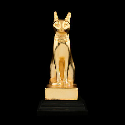 museum replica statue ancient Egyptian pharaohs cat goddess Bastet golden 88 art