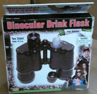 NEW OPEN BOX Forum Novelties Inc. Double Sided Binocular Flask 16 fl. oz.