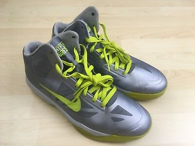 low priced acc18 ade18 Men s Sz 11 Nike Air Max Hyper Aggressor Silver Neon Green Basketball Shoes
