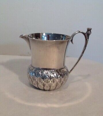 Antique Sterling Silver Thistle Cream Pitcher Fenton Bros 1927 Mackay & Chisholm