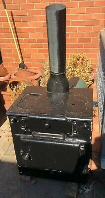Antique cast iron stove oven