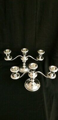 pair of Vintage Sterling Silver Gorham candelabra 3 lights candlesticks #668