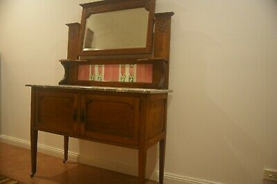 Hall Stand with mirror and marble top