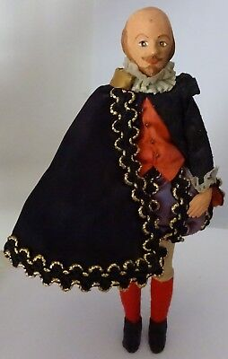 """Vintage doll """"William Shakespeare"""". 1950s  Free shipping."""