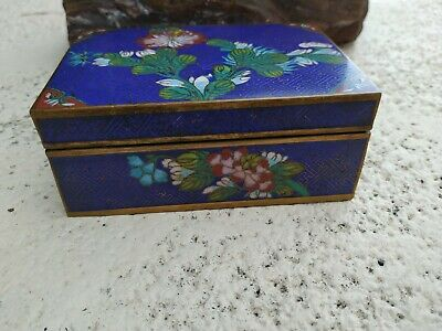 Antique Chinese  Cloisonné Large Trinket Box