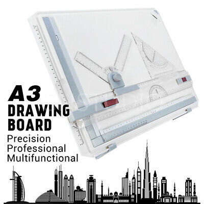 PRO A3 Drawing Board Table Drafting Tool With Parallel Motion & Adjustable Angle