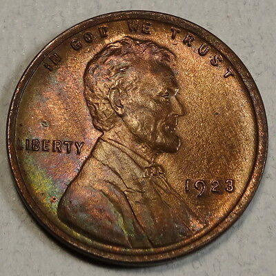 1923 Lincoln Cent, Gem Brown Uncirculated Coin, Nice Color    0927-10
