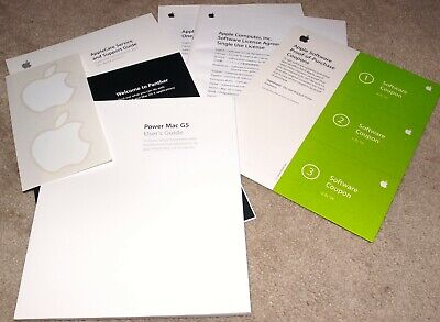 APPLE POWER MAC G5 USER'S GUIDE from G5 tower c2003 New & Unused