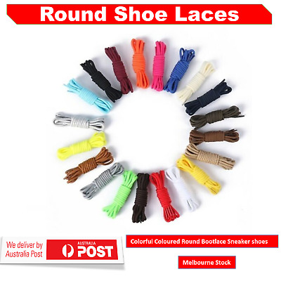 Round Shoe laces In Multi Coloured For  Bootlace Sneaker And Runners Au