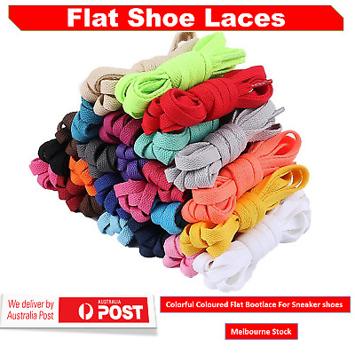 Shoe laces In Various Coloured Flat Bootlace Sneaker shoe laces AU