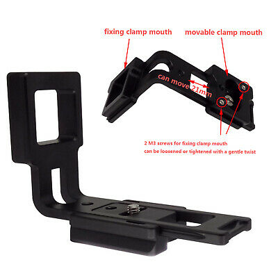 Movable QR L Plate / L Bracket For Manfrotto Bogen 200PL-14 RC2 Ball Head Clamp