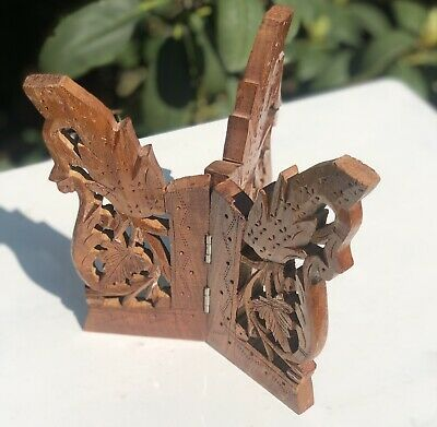 Oriental Wooden RARE Plate Charger Holder Stand