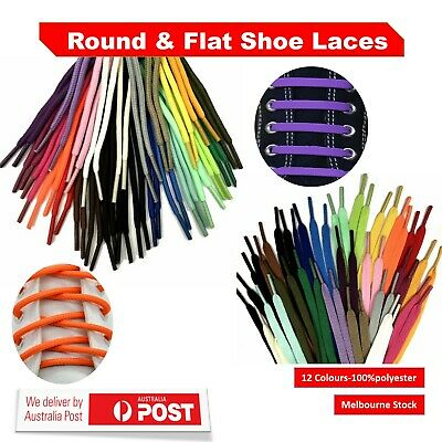 Round And Flat Shoe Lace Multi Colored Bootlace Runner And Sneaker AU