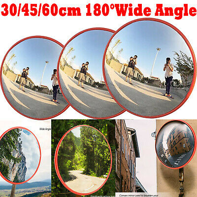 Helix 61cm Traffic 180 Degree Wide Angle Security Curved Convex Road Mirror