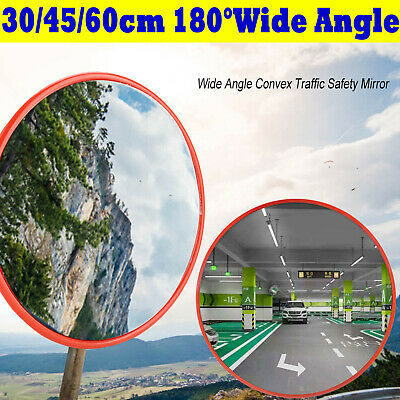 Wide Angle Mirror Security Curved Convex Road Traffic Driveway Safety 30/45/60cm