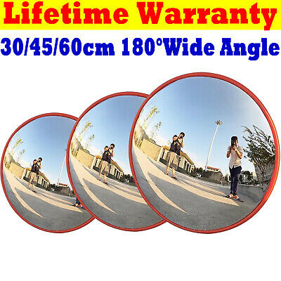 30/45/60cm Wide Angle Security Mirror Curved Convex Road Traffic Driveway Safety