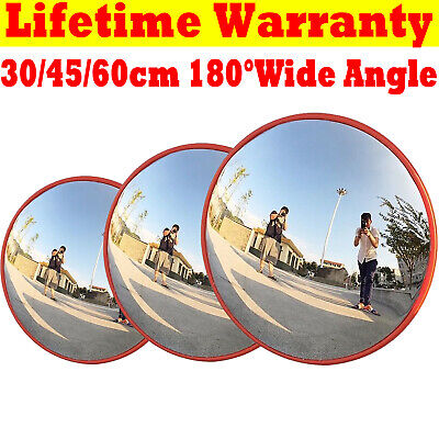 Security Wide Angle Mirror Curved Convex Driveway Traffic Road Blind Spot Safety