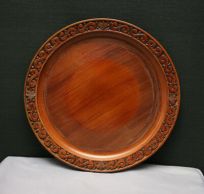 Lovely Vintage Japanese Bamboo Lacquered Charger