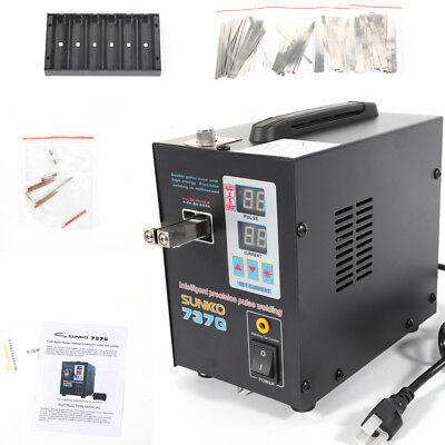 Hand Held SUNKKO 737G Battery Spot Welder W/ Pulse Current Display 800A 110V UPS