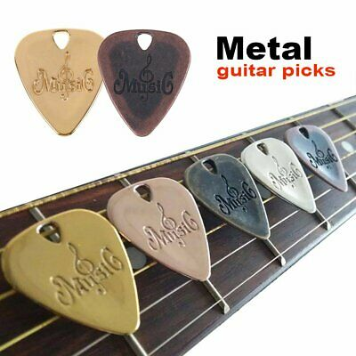 Fashion Metal Acoustic Electric Guitar Picks Classical Bass Plectrums Zinc Alloy