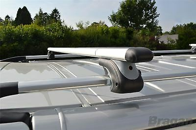 Pour 14 + ford Transit Connect Lwb Aluminium Alliage Toit Rail + Cross Barres