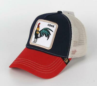 a1ebb5c845bb2 GOORIN BROS TRUCKER Hat Snapback Cap ANIMAL FARM Rooster blue red Gallo  Beaver