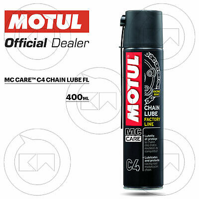 400 ml GRASSO LUBRIFICANTE CATENA SPRAY MOTUL C4 FACTORY LINE MOTO RACING PISTA