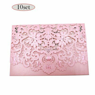 Exquisite Design Invitation Pockets Case For Bridal Showers Parties Pink Star%#