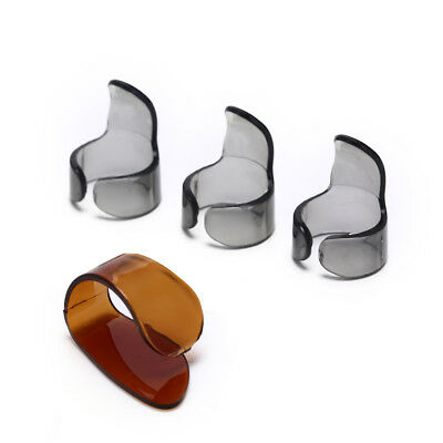 4Pcs Finger Guitar Pick 1 Thumb 3 Finger Picks Plectrum Guitar Accessories GF
