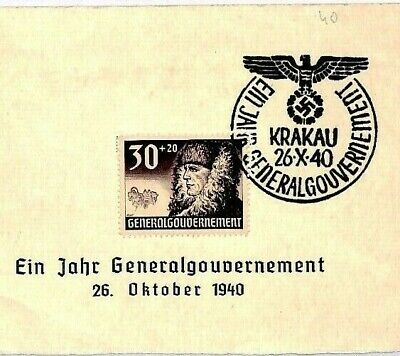 POLAND WW2 Germany General Government Krakau Cover 1940 {samwells-covers} CU10