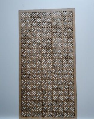 Radiator Cabinet Decorative Screening Perforated 3mm & 6mm thick MDF laser cutT2